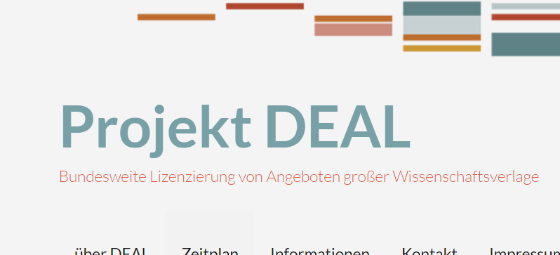 Projekt DEAL Germany Elsevier